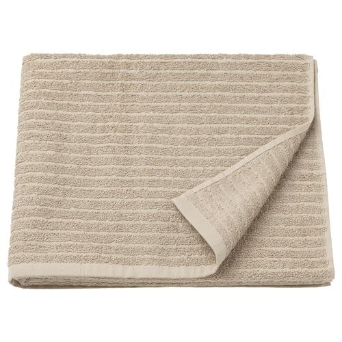 VÅGSJÖN bath towel beige 140 cm 70 cm 0.98 m² 400 g/m²