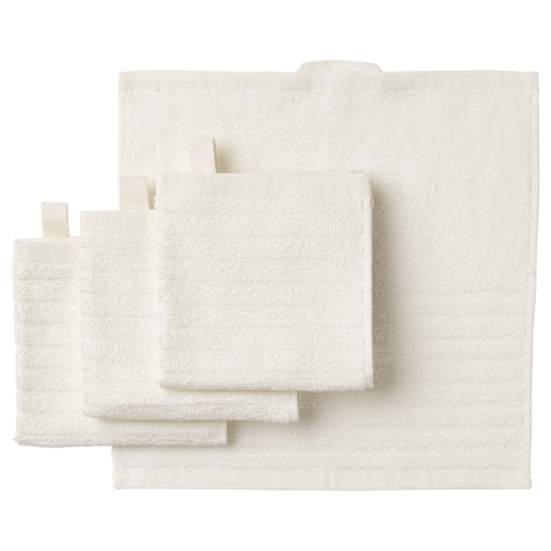 VÅGSJÖN washcloth white 30 cm 30 cm 0.09 m² 400 g/m² 4 pack