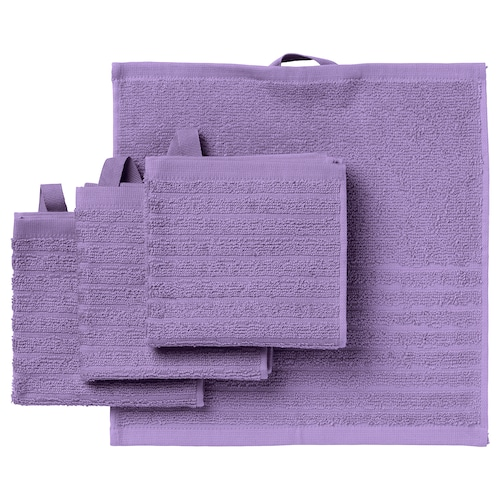 VÅGSJÖN washcloth purple 30 cm 30 cm 0.09 m² 400 g/m² 4 pack