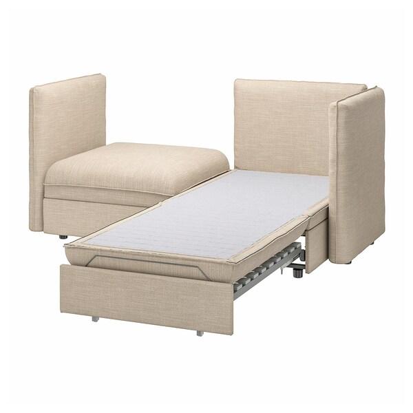 VALLENTUNA وحدة كنب بمقعدين مع كنبة سرير, وتخزين/Hillared بيج