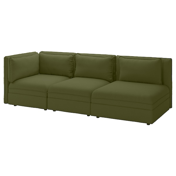 VALLENTUNA 3-seat modular sofa with sofa-bed - with open ...