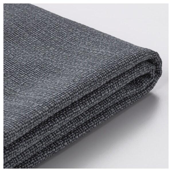 VALLENTUNA cover for seat module with storage Hillared dark grey