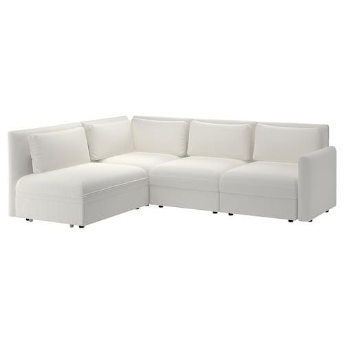 VALLENTUNA modular corner sofa 3-seat+sofa-bed and storage/Murum white 93 cm 84 cm 266 cm 193 cm 80 cm 45 cm 80 cm 200 cm