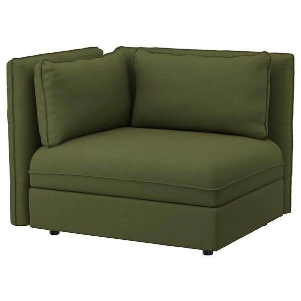 VALLENTUNA مقعد بمسند ظهر, Orrsta أخضر زيتوني
