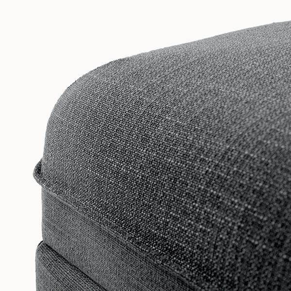 VALLENTUNA Seat module with storage, Hillared dark grey