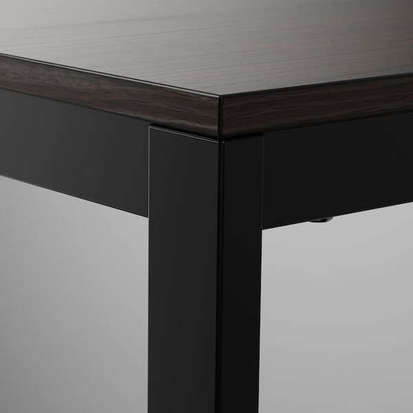VANGSTA extendable table black/dark brown 120 cm 180 cm 75 cm 73 cm