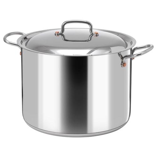 VARDAGEN pot with lid 19 cm 28 cm 10 l