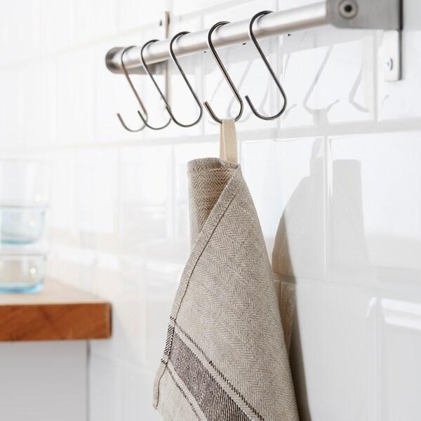 VARDAGEN Tea towel, beige, 50x70 cm