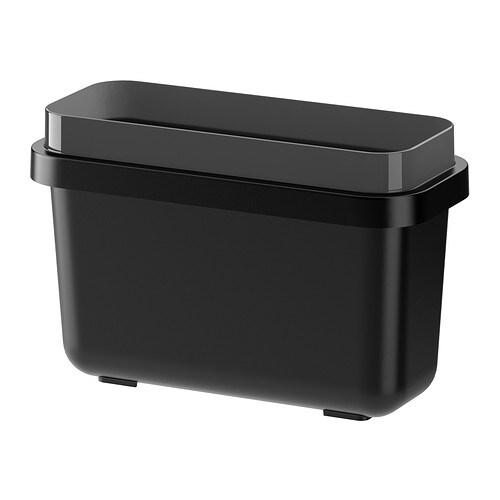 VARIERA Waste sorting bin, black