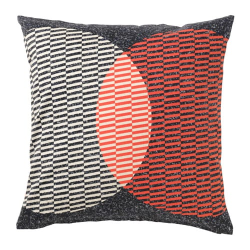 VÅRLÖK Cushion cover, orange, black