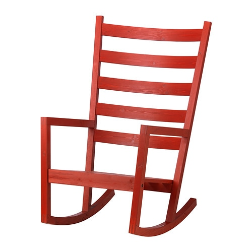 VÄRMDÖ Rocking chair in outdoor red stained IKEA