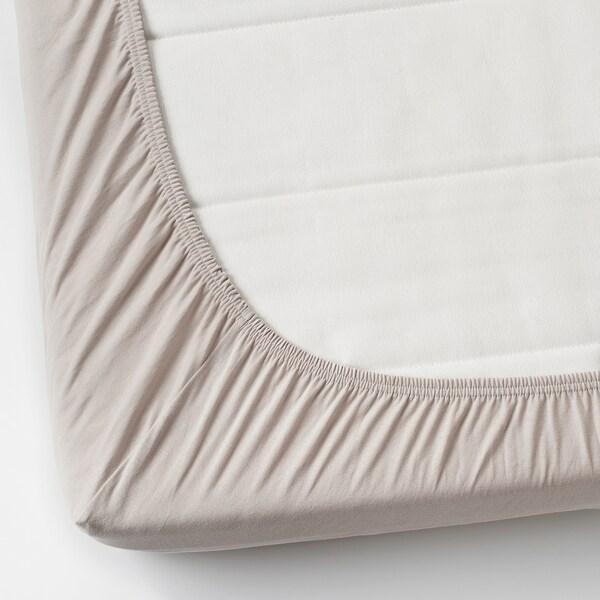 VÅRVIAL شرشف بمطاط لسرير نهاري, بيج, 80x200 سم