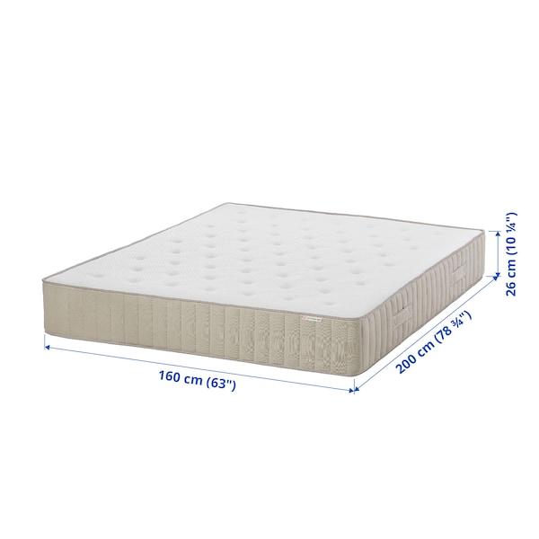 VATNESTRÖM مرتبة نوابض جيبية, صلبة أكثر/طبيعي, 160x200 سم