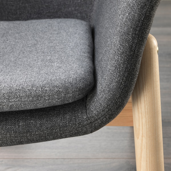 VEDBO Armchair, Gunnared dark grey