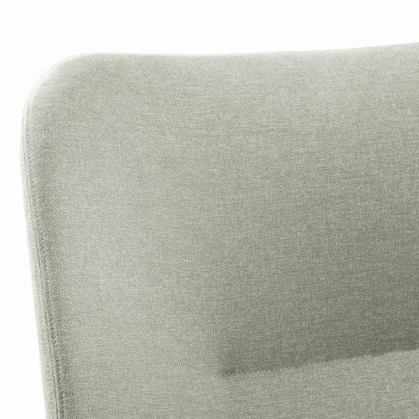 VEDBO كرسي بذراعين, Gunnared أخضر فاتح