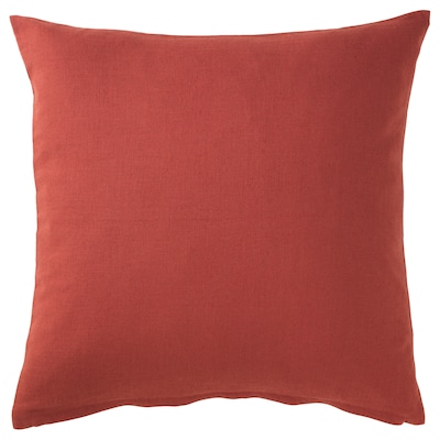 VIGDIS Cushion cover, red-orange, 50x50 cm