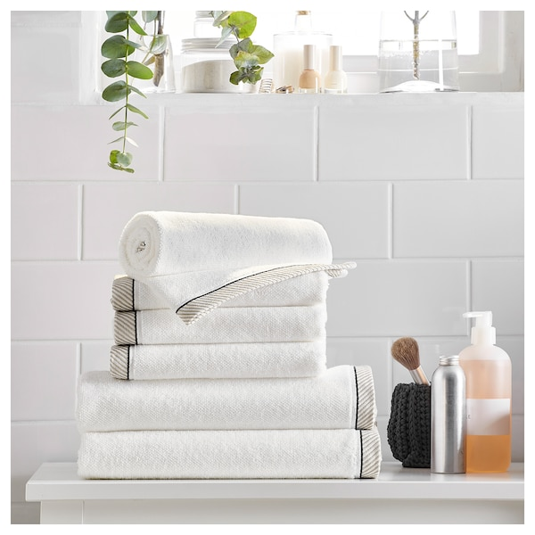 VIKFJÄRD منشفة يد, أبيض, 40x70 سم