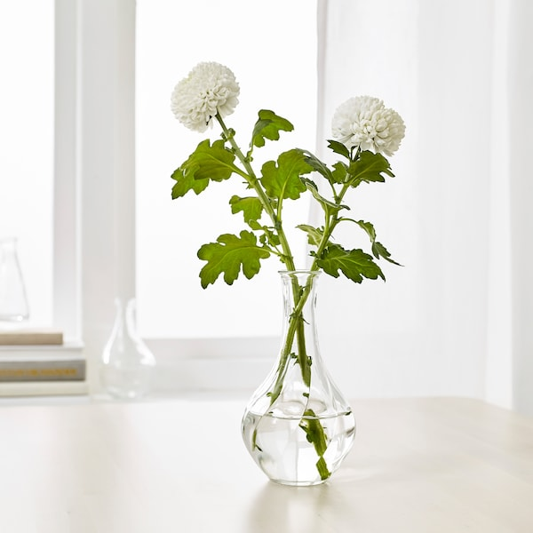 VILJESTARK Vase, clear glass, 17 cm
