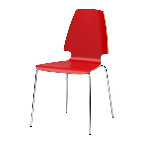 VILMAR Chair IKEA The chair's melamine surface makes it durable and easy to keep clean.