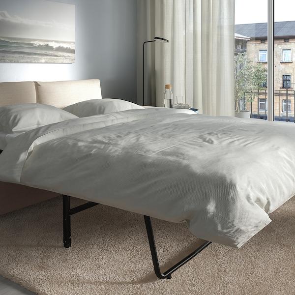 VIMLE كنبة-سرير بمقعدين, مع مساند ذراع واسعة/Gunnared بيج