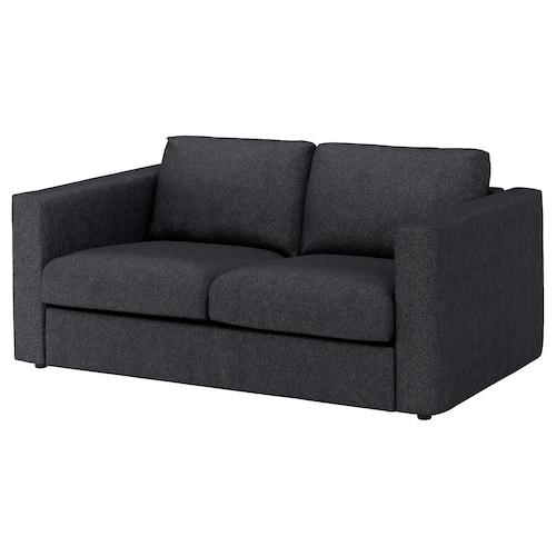 VIMLE 2-seat sofa Tallmyra black/grey 83 cm 68 cm 171 cm 98 cm 6 cm 15 cm 141 cm 55 cm 48 cm
