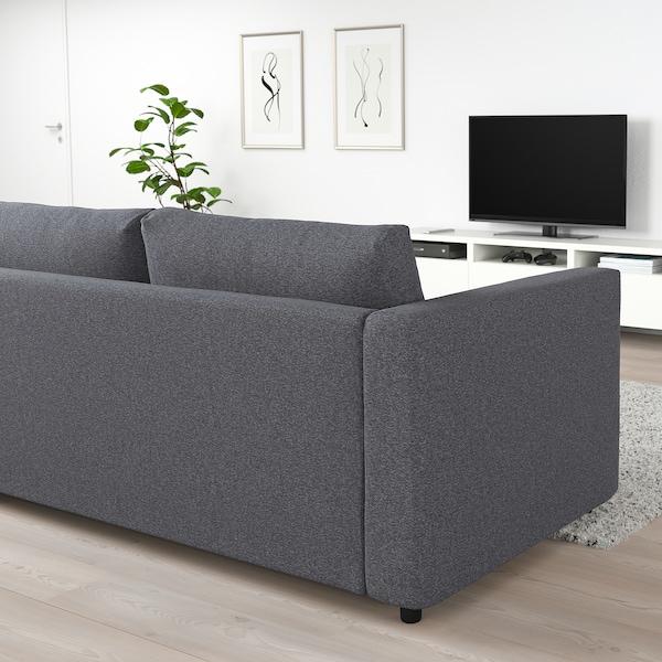 VIMLE 3-seat sofa-bed, Gunnared medium grey