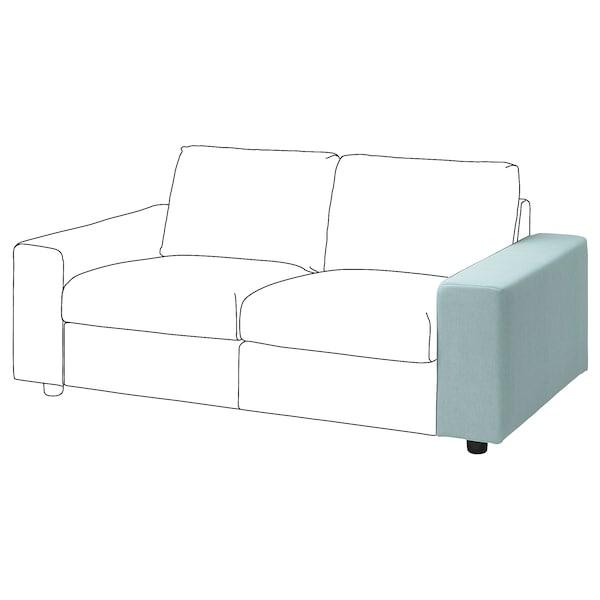 VIMLE Armrest, with wide armrests/Saxemara light blue