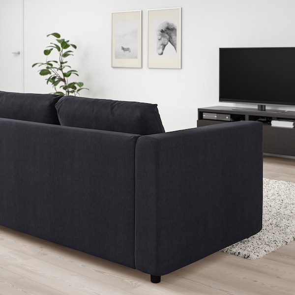 VIMLE Corner sofa, 4-seat, Saxemara black-blue