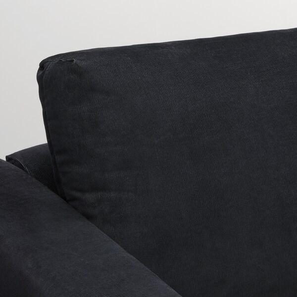 VIMLE Corner sofa, 5-seat w chaise longue, Saxemara black-blue