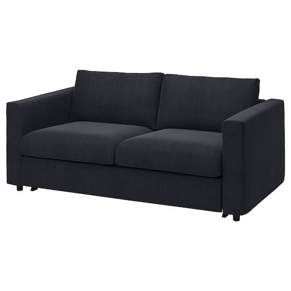 VIMLE غطاء كنبة سرير ومقعدين, Saxemara أسود-أزرق