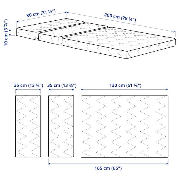 VIMSIG Foam mattress for extendable bed, 80x200 cm