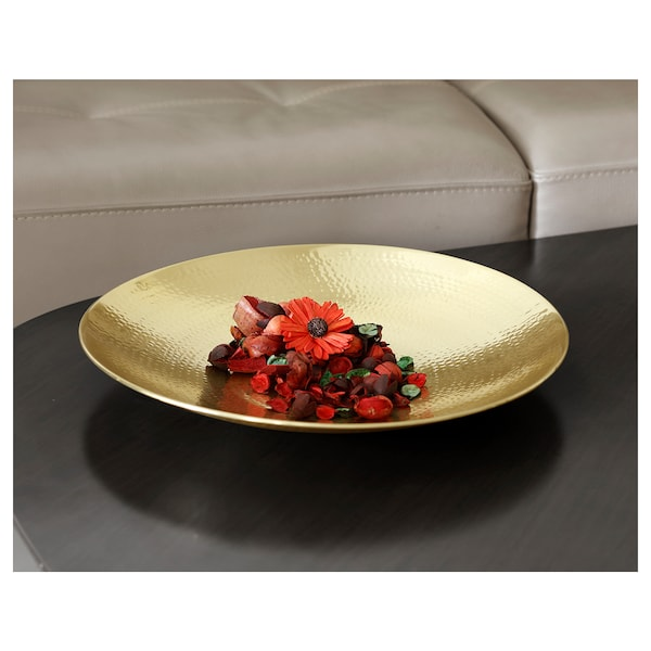 VINDFLÄKT Bowl, gold-colour, 48 cm