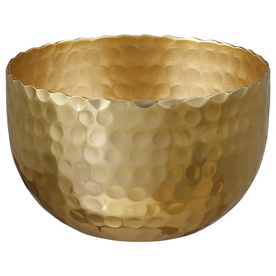 VINDFLÄKT Bowl, gold-colour, 10 cm