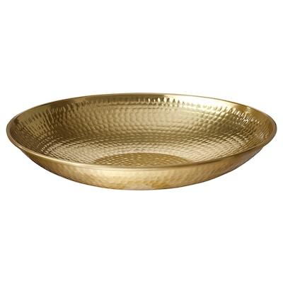 VINDFLÄKT Bowl, gold-colour, 29 cm