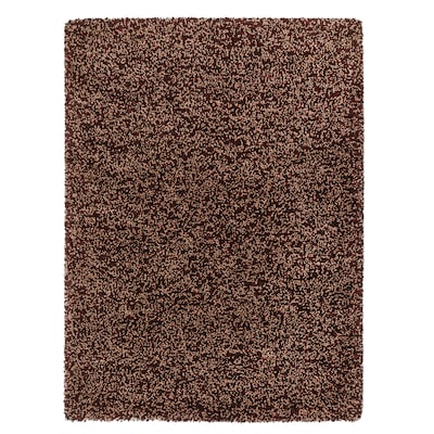 VINDUM Rug, high pile, brown, 133x180 cm