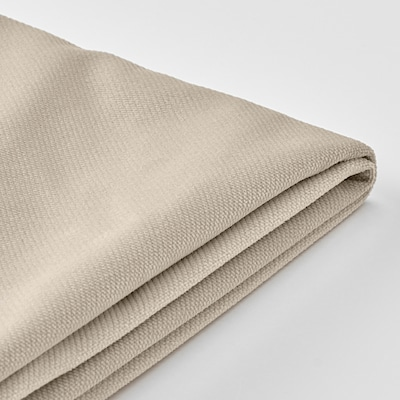 VINLIDEN غطاء كنبة ثلاث مقاعد, مع أريكة طويلة/Hakebo بيج