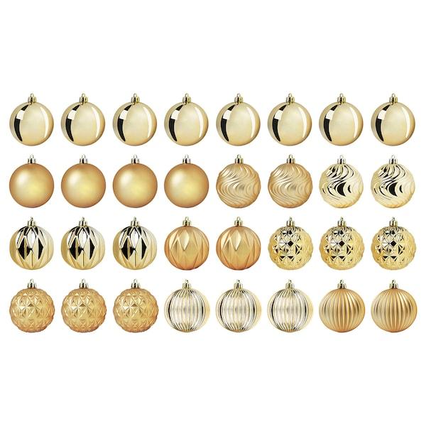 VINTER 2020 Decoration, bauble, gold-colour, 8 cm