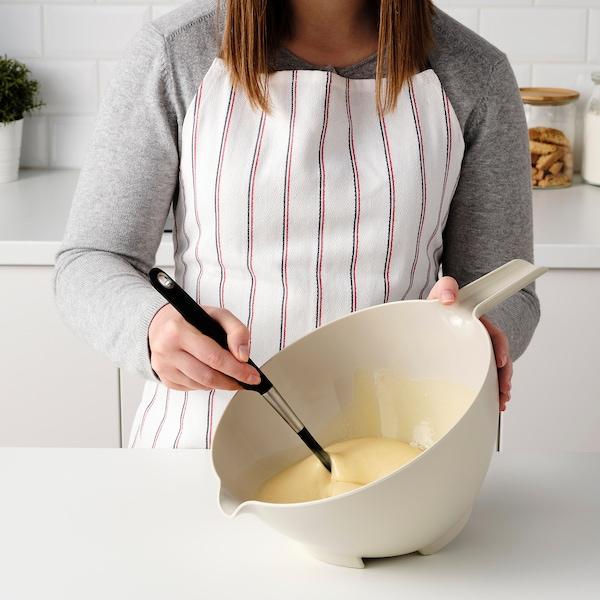 VISPNING Mixing bowl, beige, 3.0 l