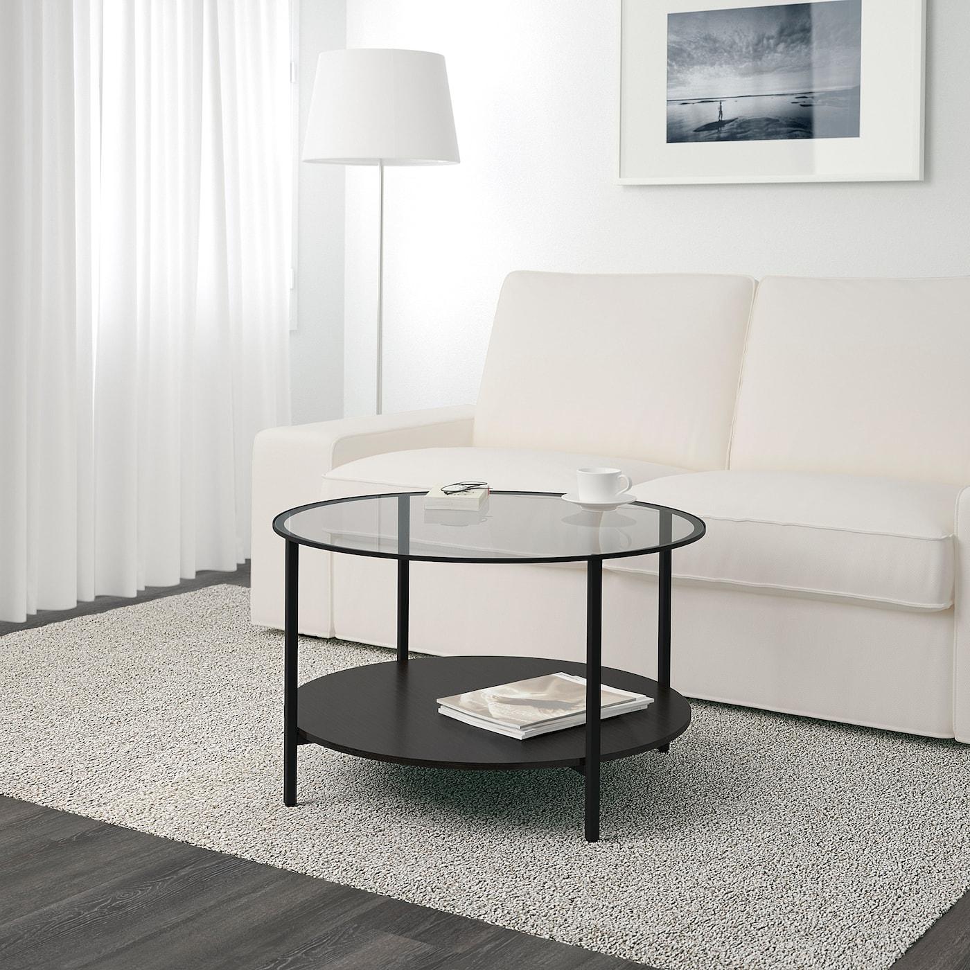 Buy Vittsjo Coffee Table Black Brown Glass Online Uae Ikea [ 1400 x 1400 Pixel ]