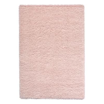 VOLLERSLEV Rug, high pile, pale pink, 133x195 cm