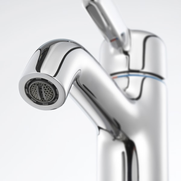 VOXNAN Wash-basin mixer tap with strainer, chrome-plated