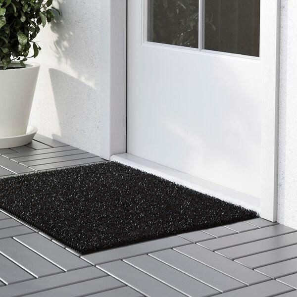 YDBY Door mat, in/outdoor black, 58x79 cm