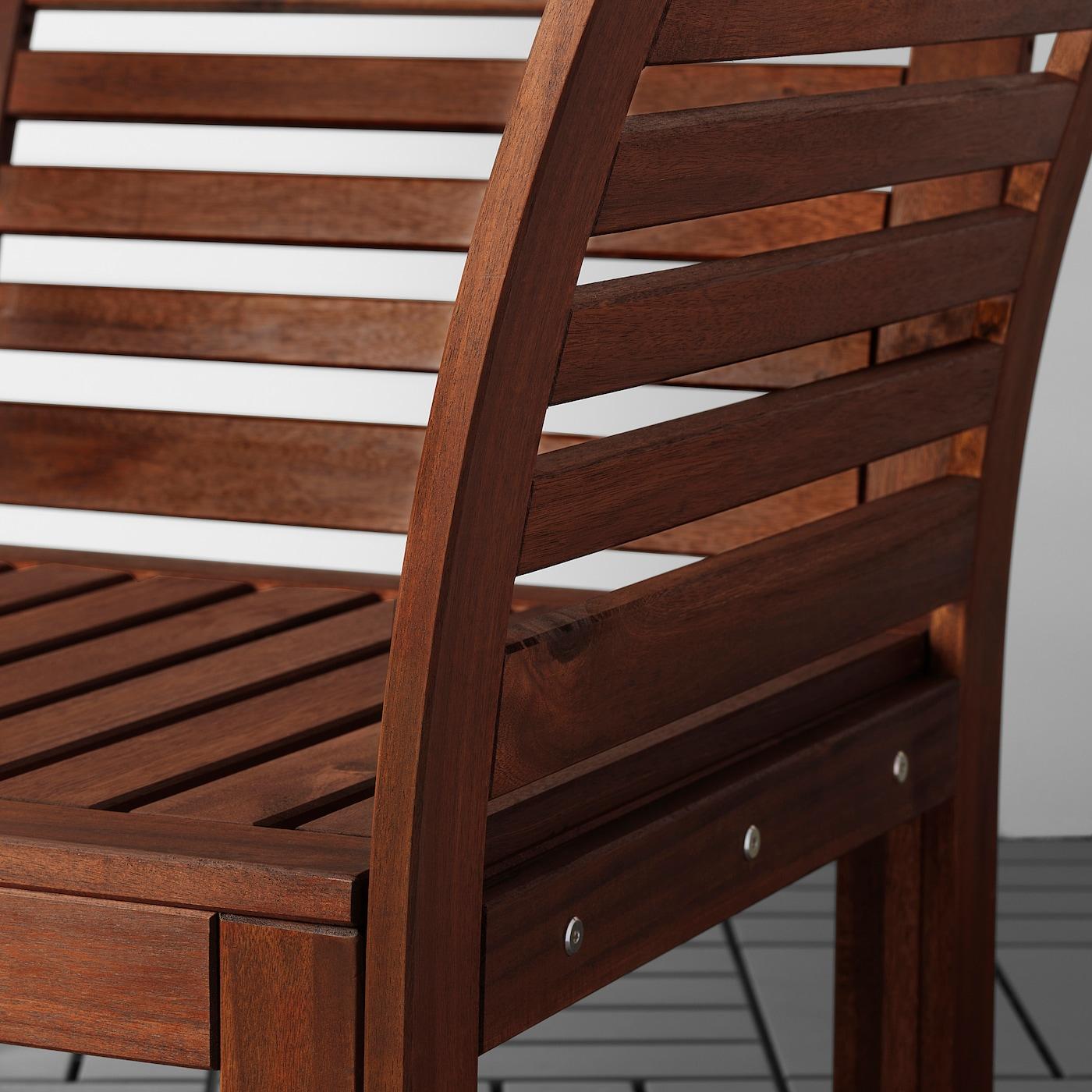 ÄPPLARÖ 2er-Sitzelement/außen, braun las./Frösön/Duvholmen beige, 160x80x84 cm