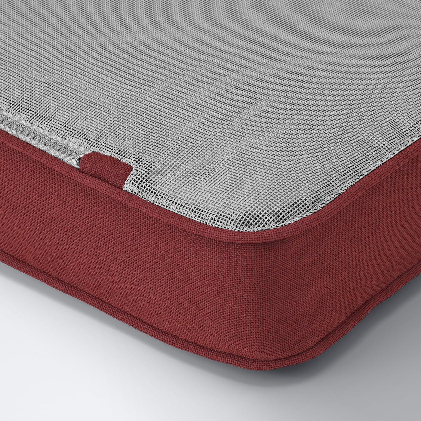 ÄPPLARÖ Sessel/außen, braun las./Järpön/Duvholmen braunrot, 63x80x86 cm