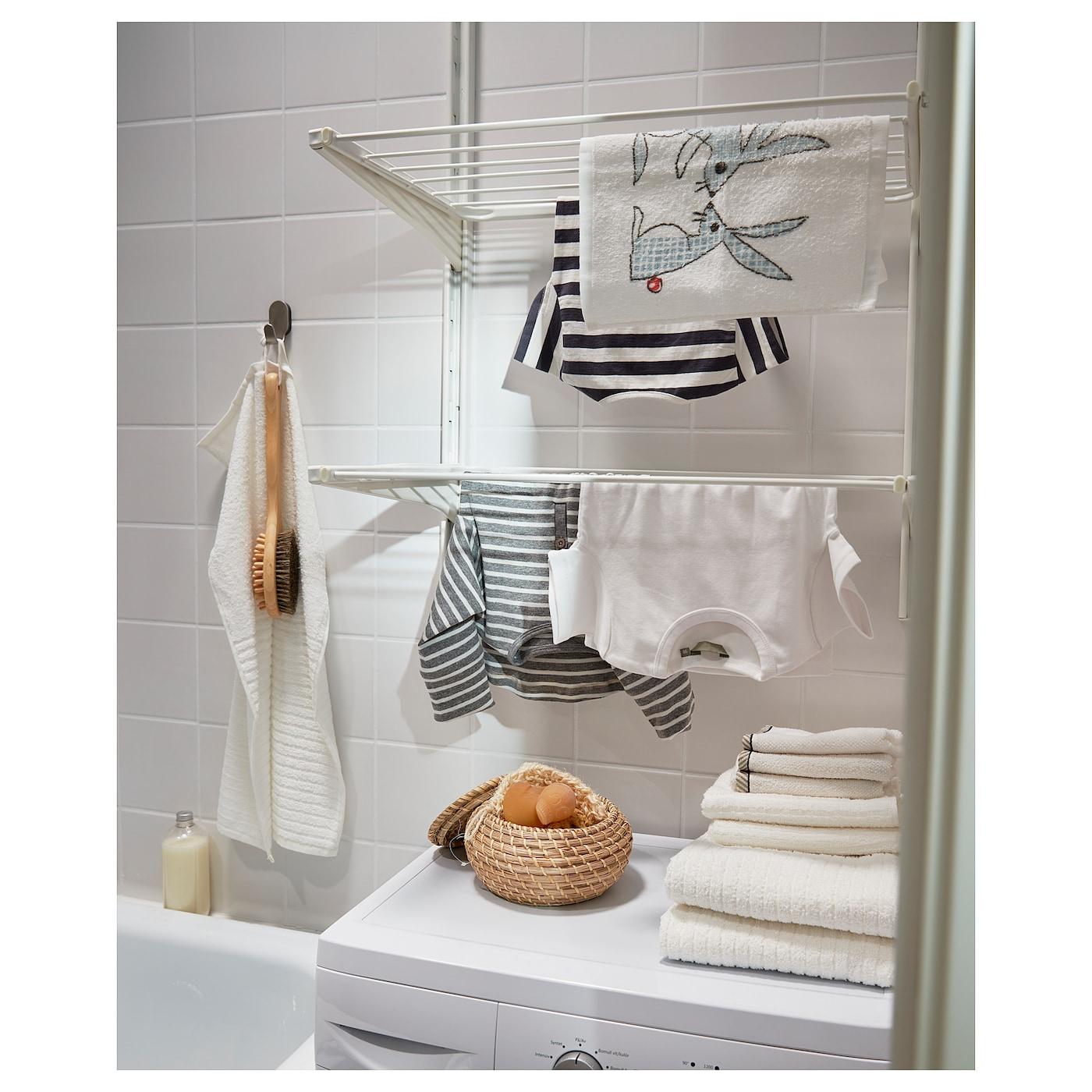 ALGOT Wandschiene/Wäschehalter weiß 66 cm 41 cm 197 cm