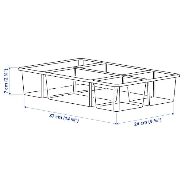 ANTONIUS Einsatz, transparent, 37x24x7 cm