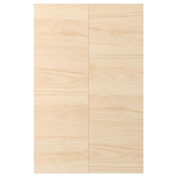 ASKERSUND Tür für Eckunterschrank 2 St., Eschenachbildung hell, 25x80 cm
