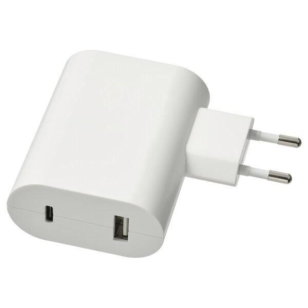 ÅSKSTORM USB-Ladegerät 23W, weiß