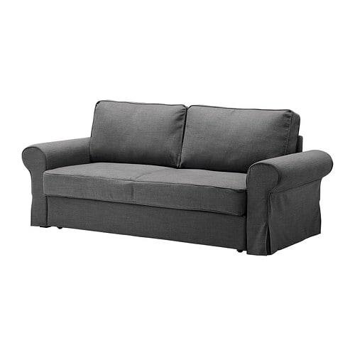 backabro bezug 3er bettsofa svanby grau ikea. Black Bedroom Furniture Sets. Home Design Ideas