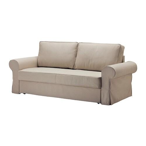 backabro marieby 3er bettsofa tygelsj beige ikea. Black Bedroom Furniture Sets. Home Design Ideas